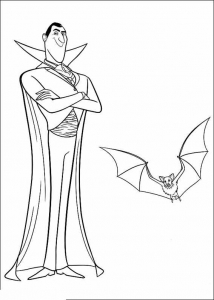Coloring page vampires to download