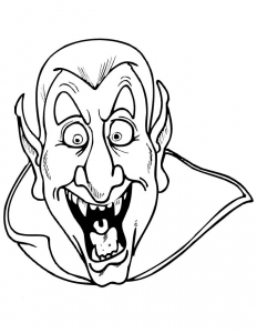 Coloring page vampires for children