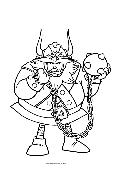 Beautiful Vic The Viking coloring page to print and color