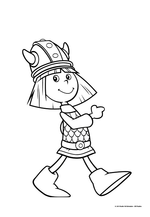Simple Vic The Viking coloring page to download for free