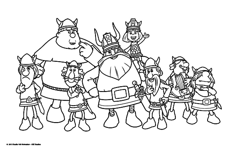 Easy Free Vic The Viking Coloring Page To Download