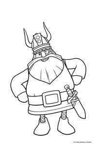 Coloring page vic the viking to download for free