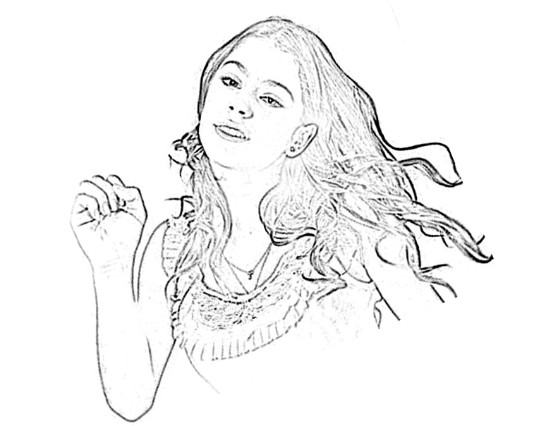 Printable Violetta coloring page to print and color for free