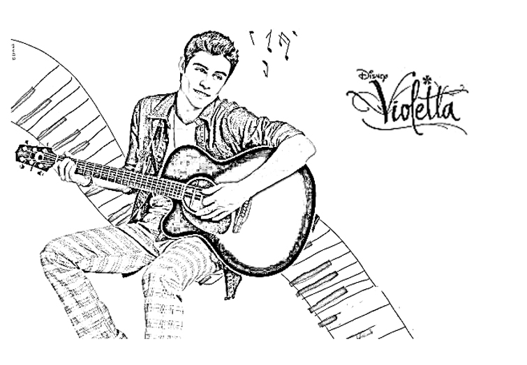 Funny Violetta coloring page for kids