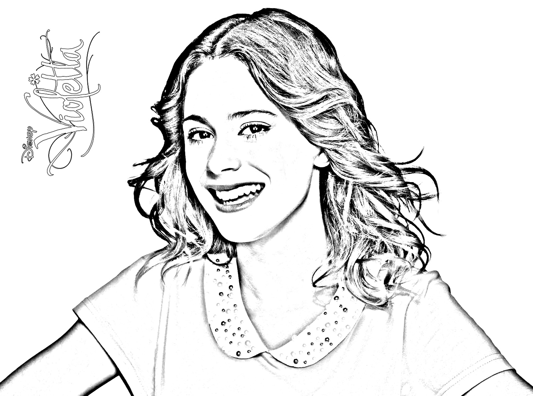 Simple Violetta Coloring Page To Download For Free