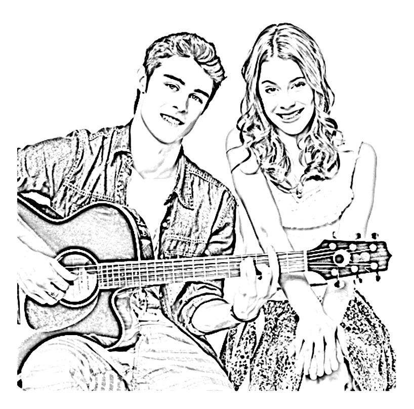 Violetta coloring page to print and color