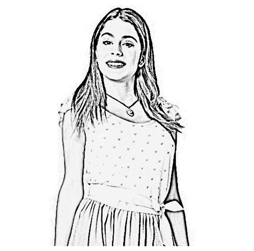 Funny Violetta coloring page for children
