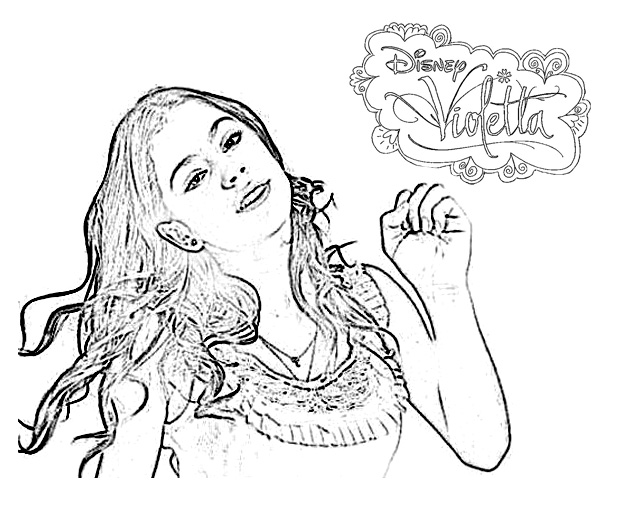 Simple Violetta Coloring Page To Print And Color For Free