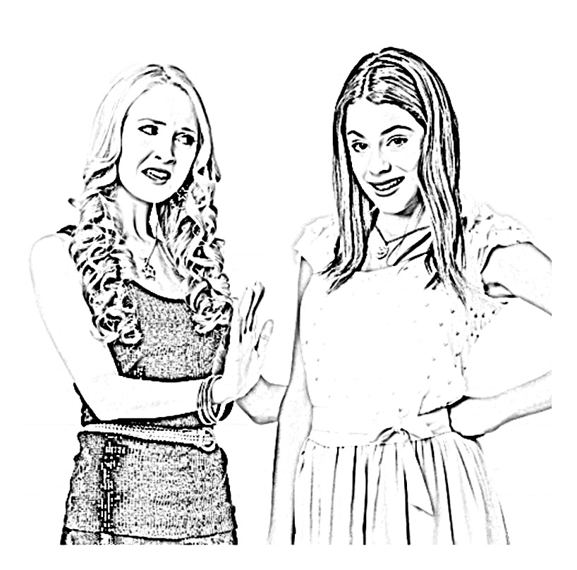 Printable Violetta coloring page to print and color