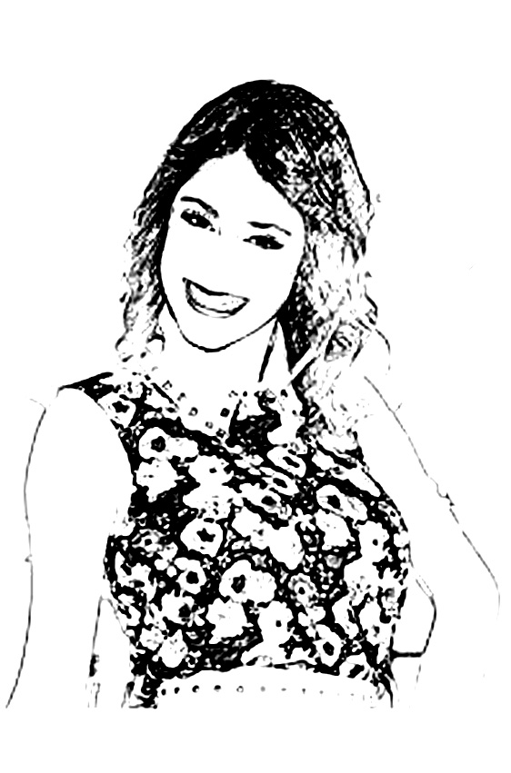 Simple Violetta coloring page for kids