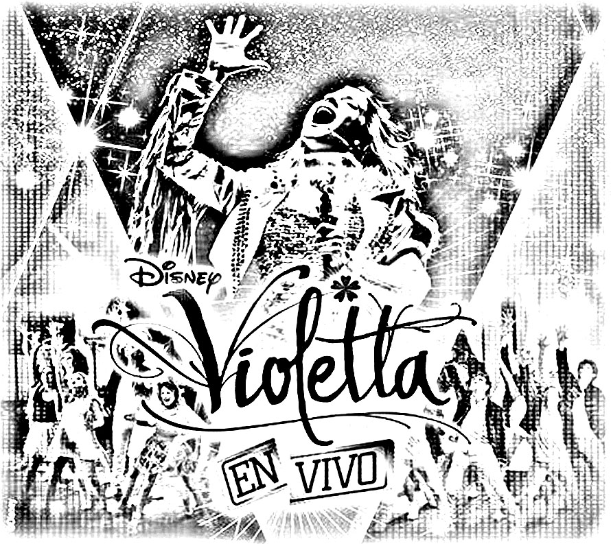 Free Violetta coloring page to download, for children