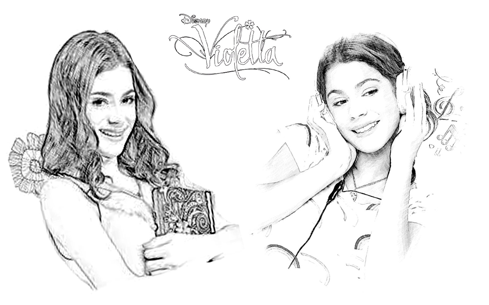 Funny Violetta coloring page