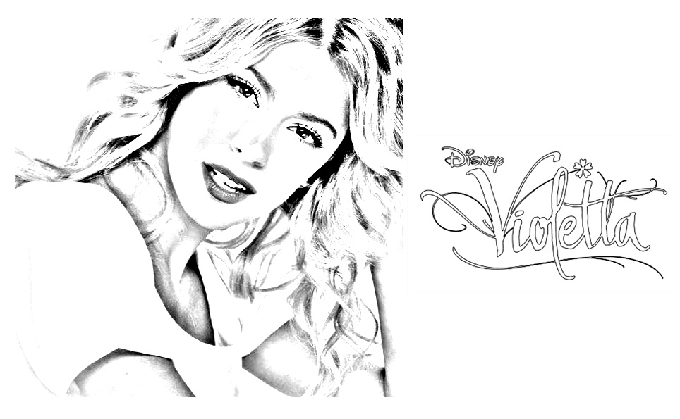 Violetta coloring page to print and color for free