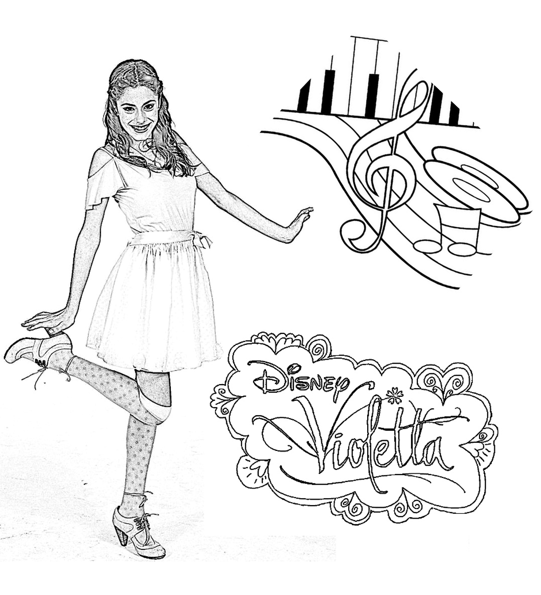 Free Violetta Coloring Page To Print And Color For Kids