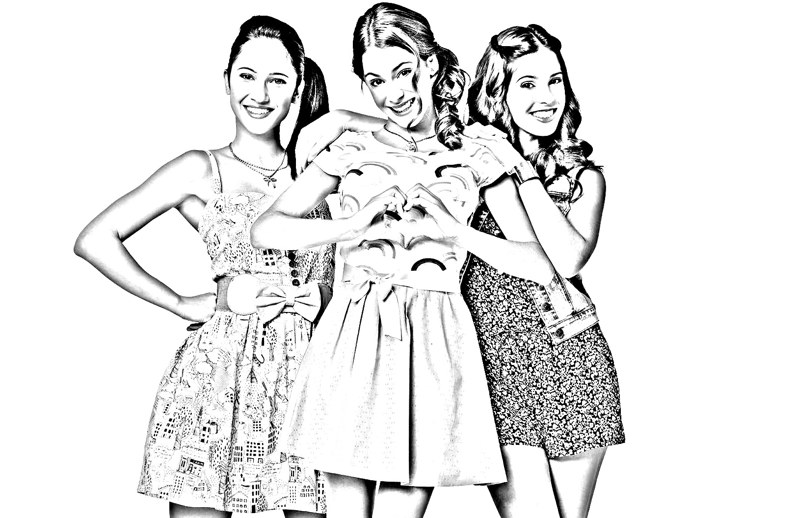 Funny free Violetta coloring page to print and color