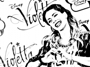 Coloring page violetta to color for children