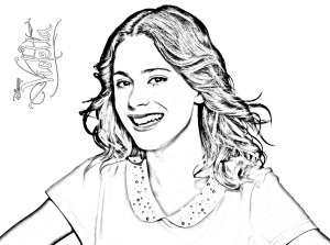 Coloring page violetta to download for free