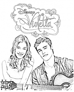 Coloring page violetta to print for free