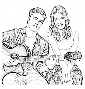 Coloring page violetta to download
