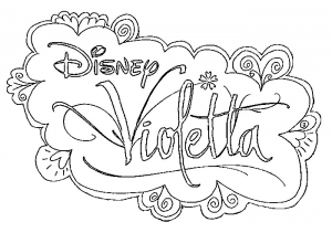 Coloring page violetta free to color for children