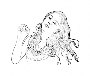 Coloring page violetta for children