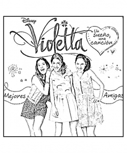 Coloring page violetta to print
