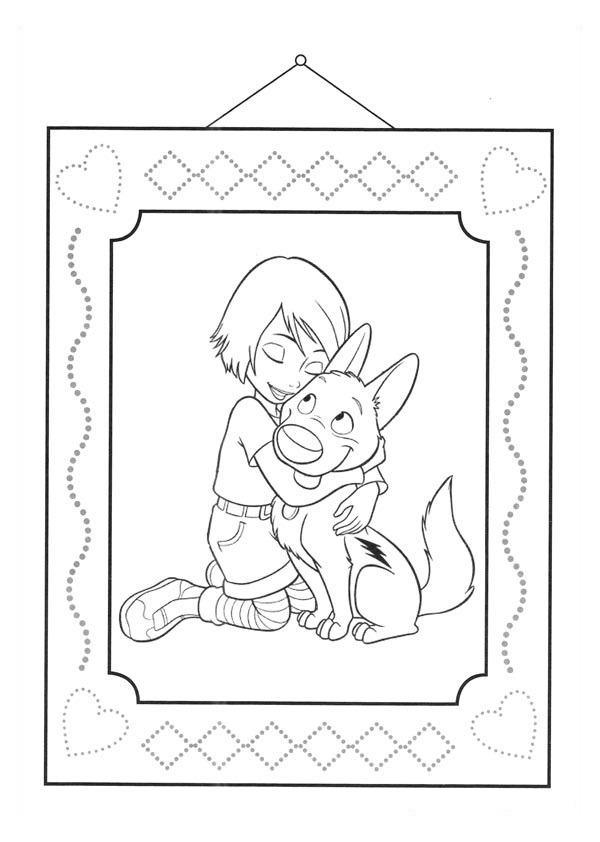 Simple Volt coloring page to print and color for free