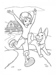 Coloring page volt for kids