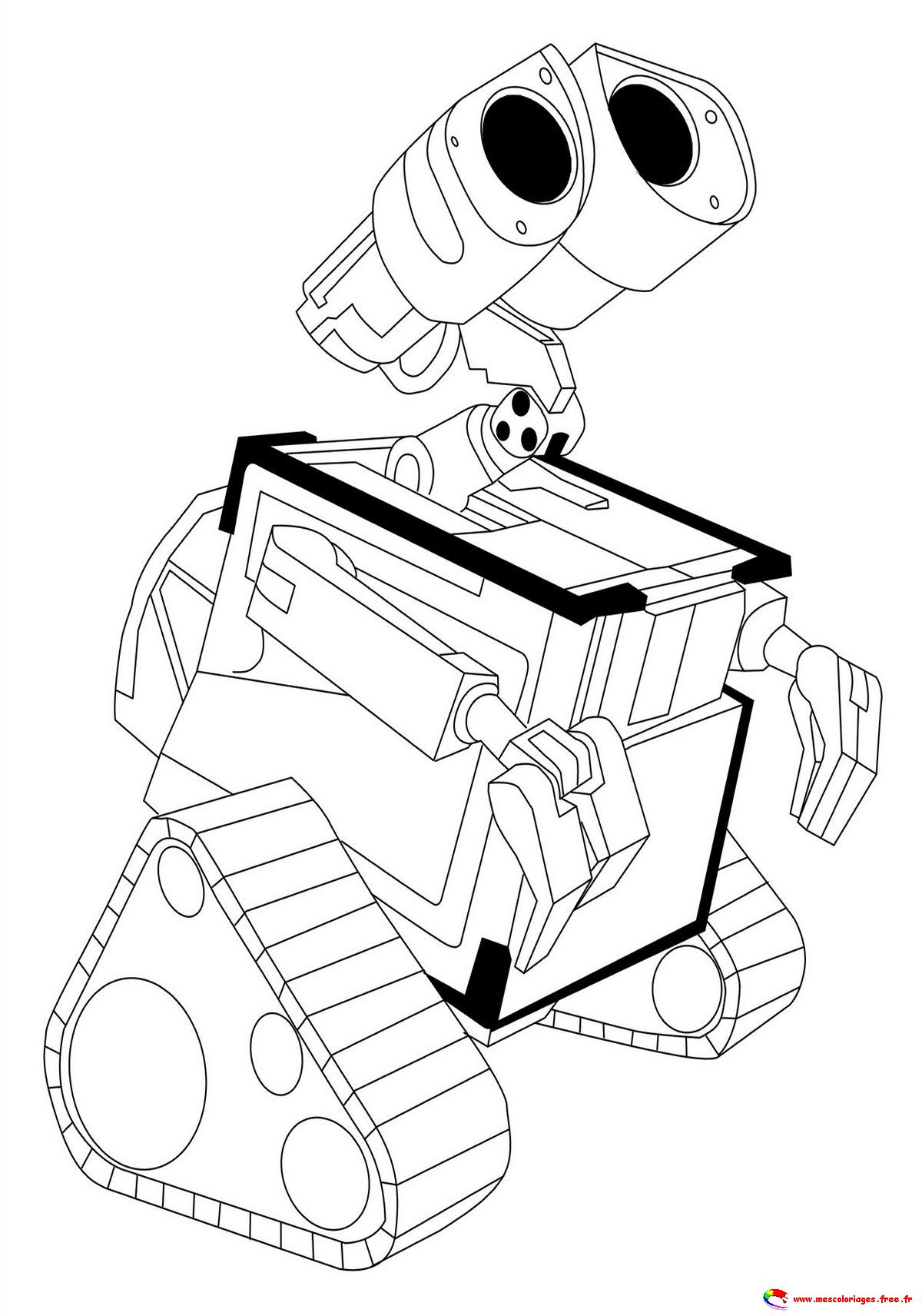 Free Disey-Pixar's Wall E coloring page to download