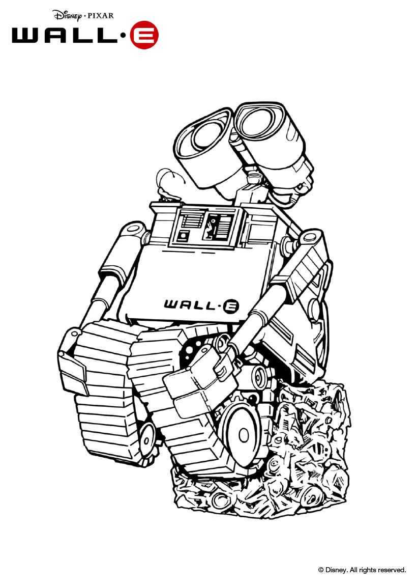 Broken Wall-E coloring page | Free Printable Coloring Pages | 1149x820