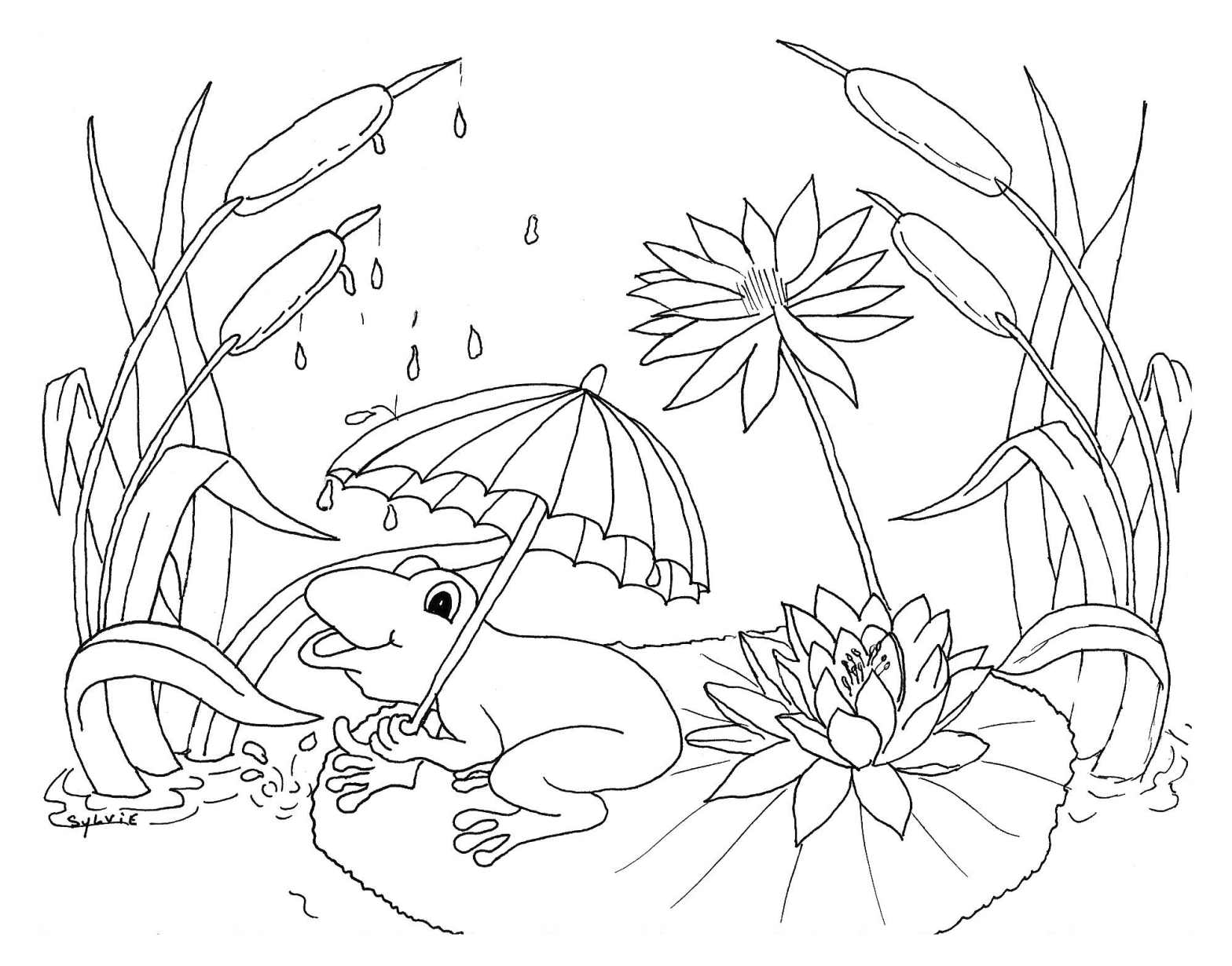 Cute free Weather coloring page to download