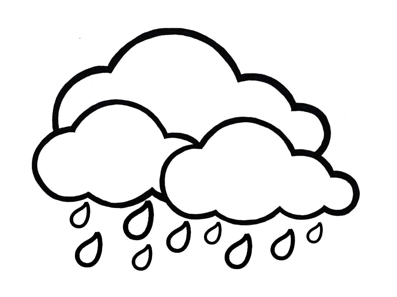 Simple Weather coloring page for kids