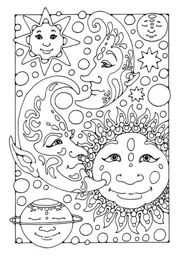 Simple Weather coloring page to print and color for free