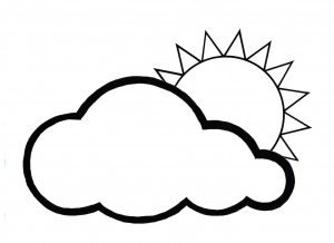 Coloring page weather for kids