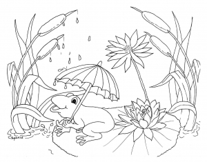 Coloring page weather free to color for children