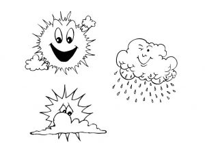 Coloring page weather to color for kids