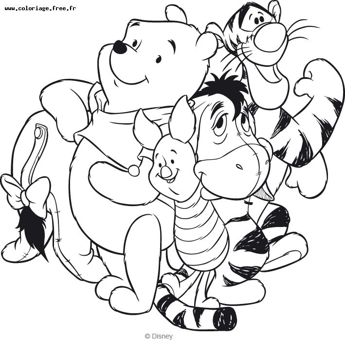 Simple Winnie The Pooh coloring page for kids