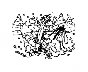 Coloring page winnie the pooh to color for children