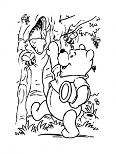 Coloring page winnie the pooh to print