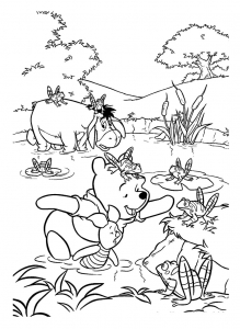 Coloring page winnie the pooh free to color for kids