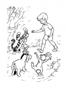 Coloring page winnie the pooh to print for free