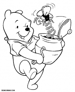 Coloring page winnie the pooh for children
