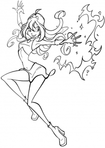 Coloring page winx to print