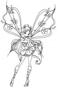 Coloring page winx to color for children
