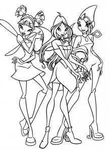 Coloring page winx free to color for children