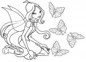 Funny Free Winx Coloring Page To Print And Color