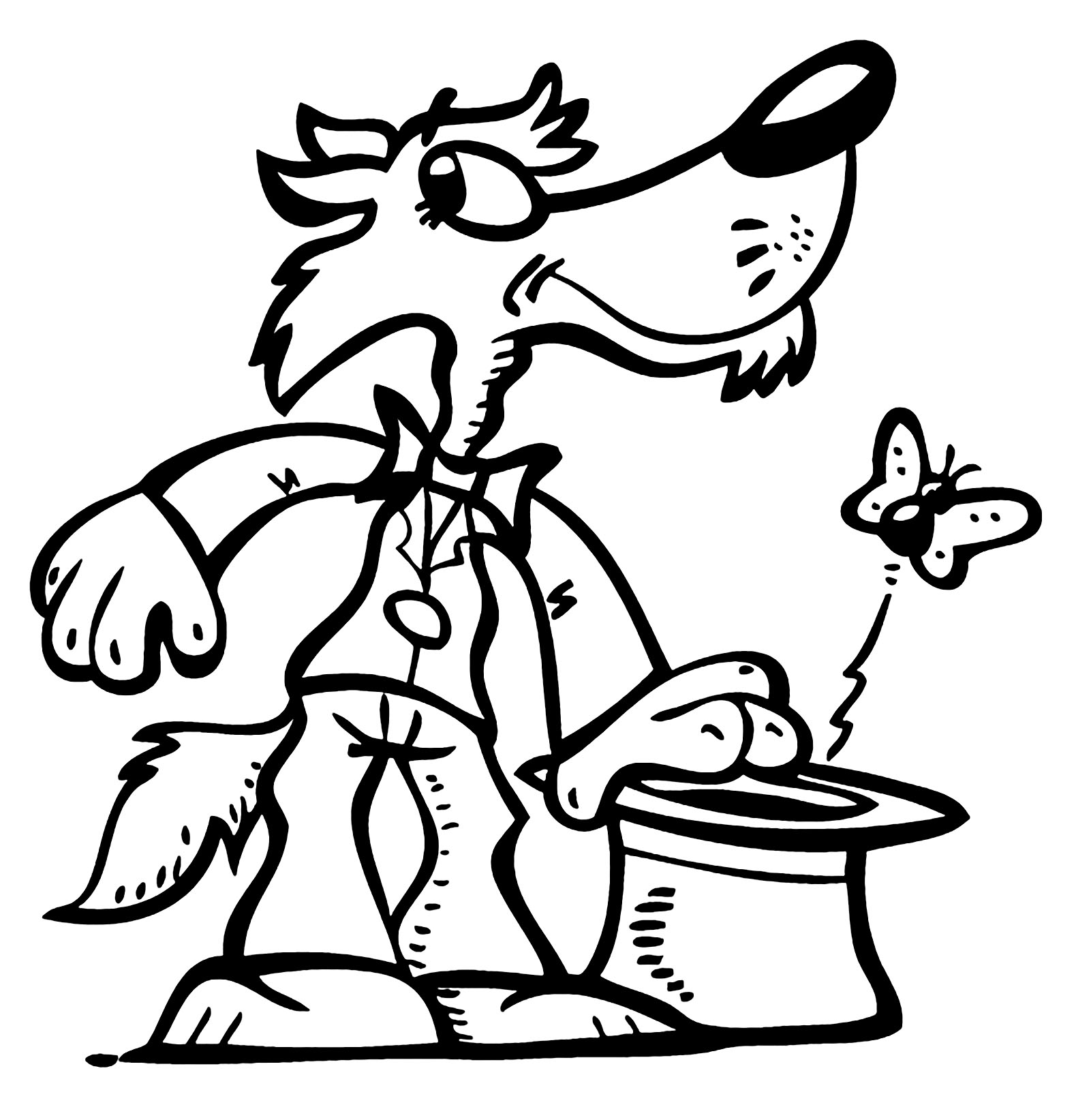 Beautiful Wolf coloring page
