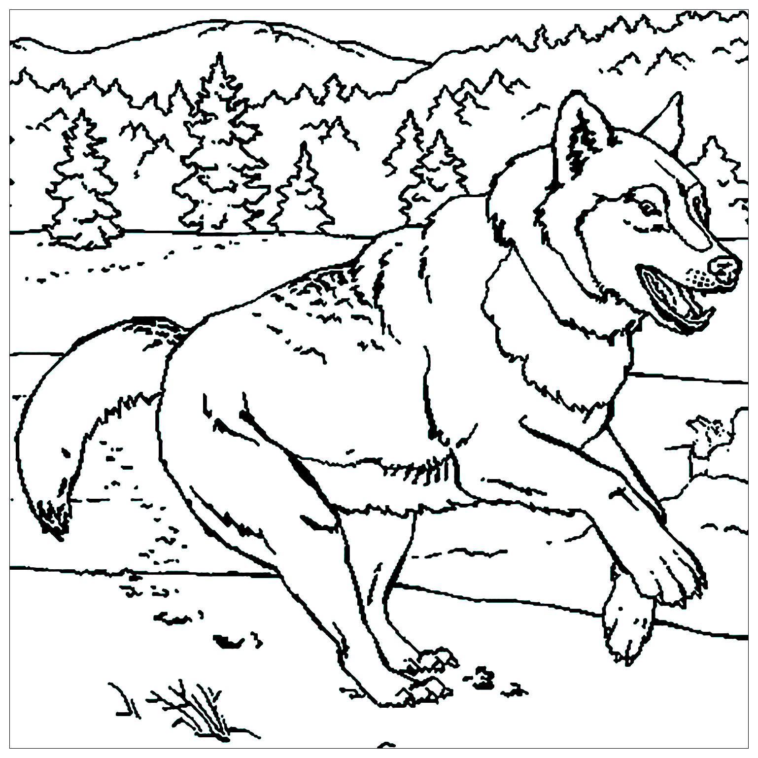 Wolf to print - Wolf Kids Coloring Pages
