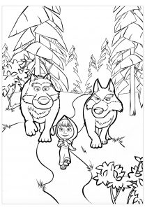 Coloring page wolf to download