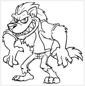 Coloring page wolf to color for children